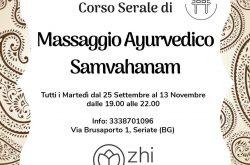 Corso di Massaggio Ayurvedico Serale - Seriate