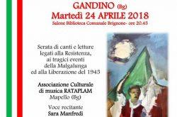 Canti e Ricordi della resistenza - Gandino