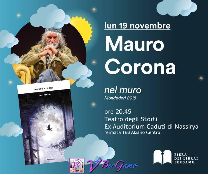 Mauro Corona Lunedì prossimo! Ore 20.45 presso il Teatro degli Storiti