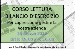 Corso Lettura Bilancio d'Esercizio - Zanica