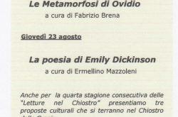 Letture nel chiostro - Bergamo